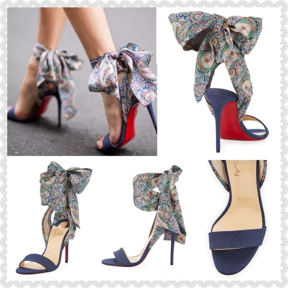 best authentic aaffd e8f1d 🆑Christian Louboutin Denim Sandals✔️ *Authentic* Boutique